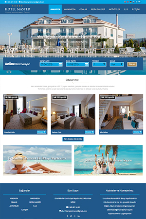 hazır pansiyon sitesi web tasarım